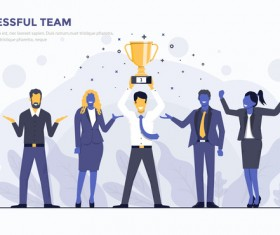 Successful Team flat business template vector