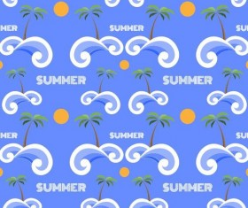 Summer holiday styles seamless pattern vector 05