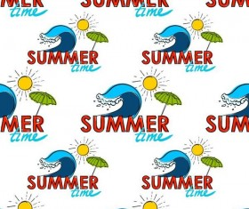 Summer holiday styles seamless pattern vector 06