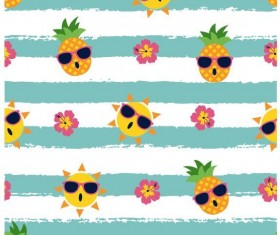 Summer holiday styles seamless pattern vector 10