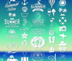 Summer logos typography vector 01