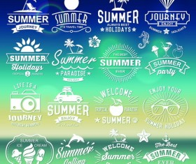 Summer logos typography vector 02