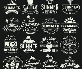 Summer retor logos design vector material