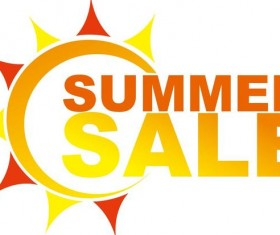 Summer sale logo design vector