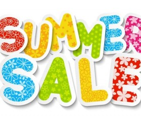 Summer sale sticker design vector
