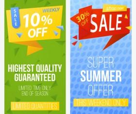 Super summer offer discount voucher banner vector