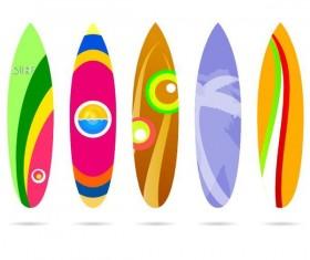 Surf board template vectors 01