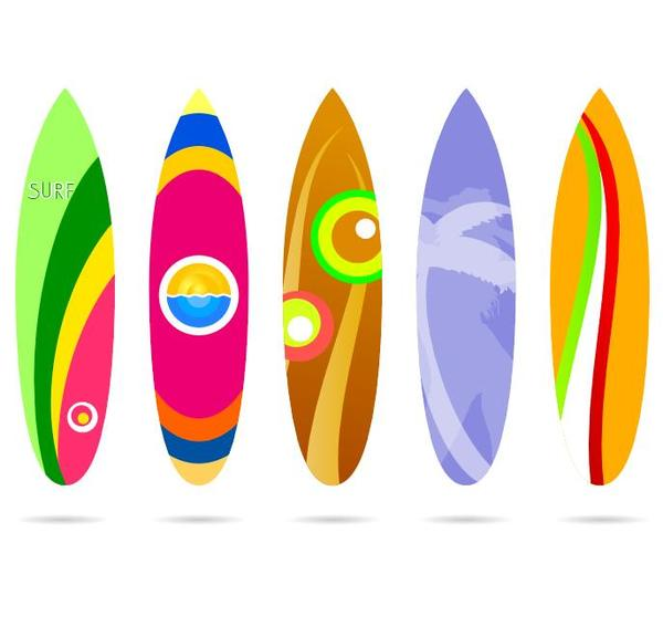 surf board template vectors 01 free download