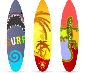 Surf board template vectors 02