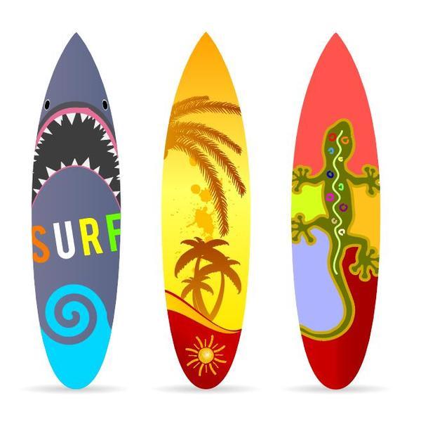 surf board template vectors 02 free download