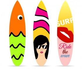 Surf board template vectors 03