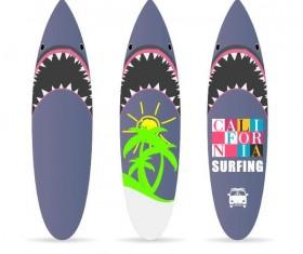 Surf board template vectors 04