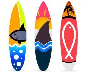 Surf board template vectors 06
