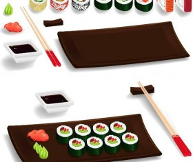 Sushi meal vector material