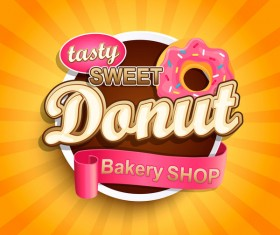 Sweet dount label vector