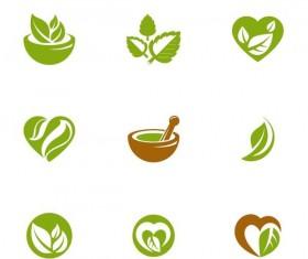Tea green logos design vector