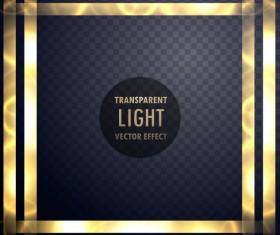 Transparent light frame effect vector 01