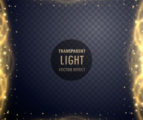 Transparent light frame effect vector 02