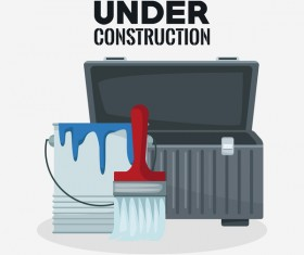 Under construction sign design vector 03
