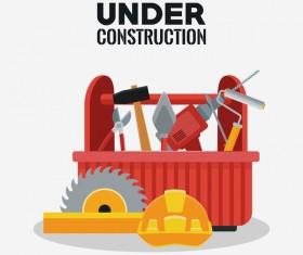 Under construction sign design vector 05