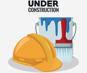 Under construction sign design vector 06