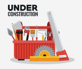 Under construction sign design vector 07