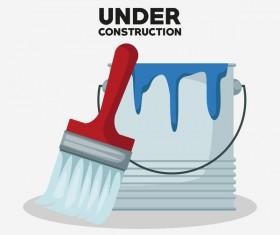 Under construction sign design vector 08