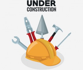 Under construction sign design vector 09