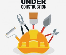 Under construction sign design vector 10