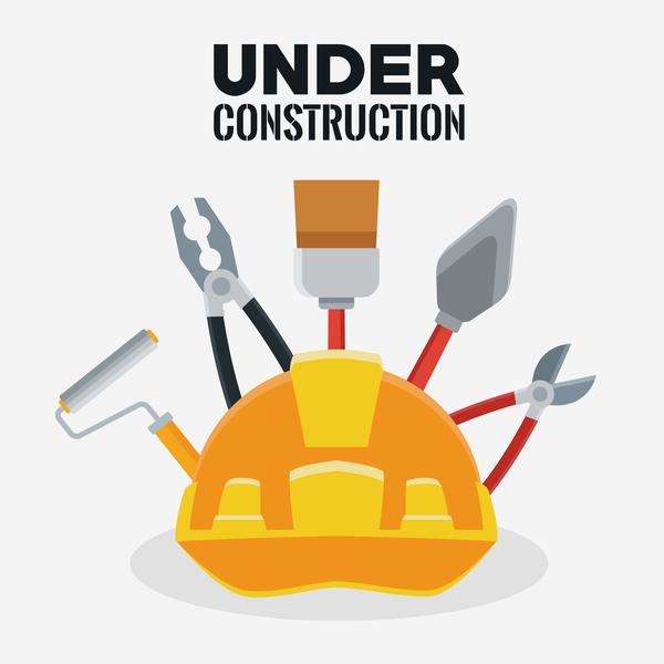 Under construction sign design vector 10