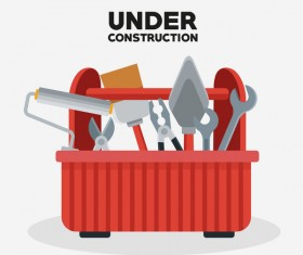 Under construction sign design vector 11