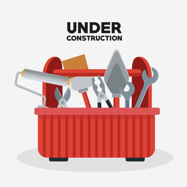 Under construction sign design vector 11