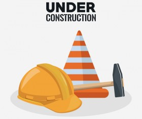 Under construction sign design vector 12