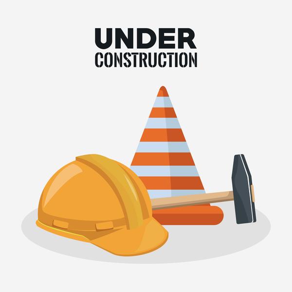 Under construction sign design vector 12