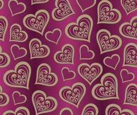 Valentine Day Wallpaper Seamless Pattern Background vector