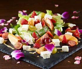 Vegetable cheese salad Stock Photo