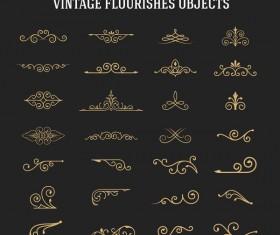 Vintage flourishes ornament vector