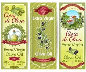 Vintage olive oil banner sticker vector 01