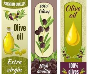 Vintage olive oil banner sticker vector 02