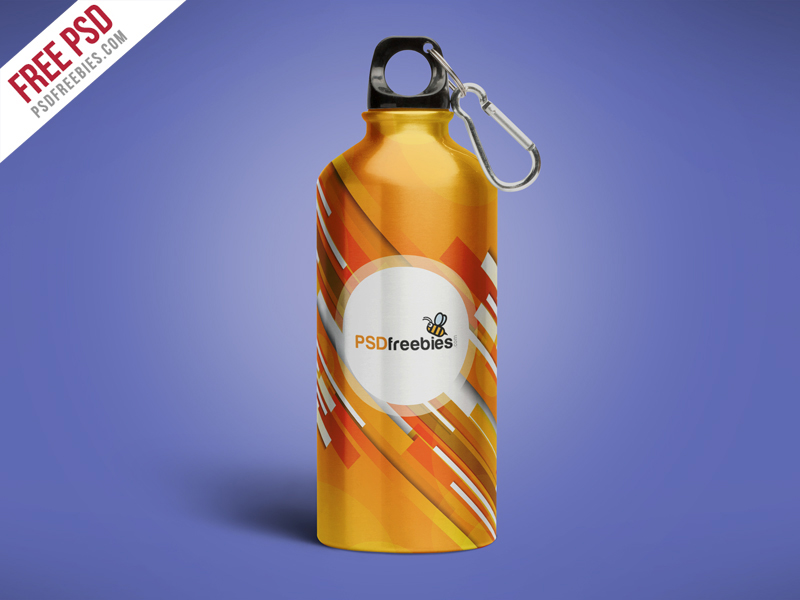Water Bottle Mockup Psd Material