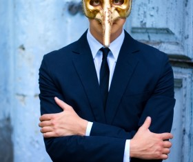 Wearing Mask Man Stock Photo 01