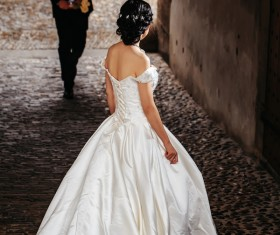 Wedding photographs of newlyweds in the streets Stock Photo