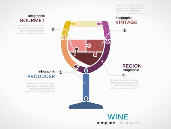Wine infographic vector template