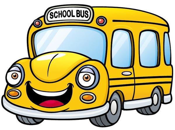 Yellow cartoon school bus vector