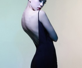 Young girl wearing black skirt posing Stock Photo 03