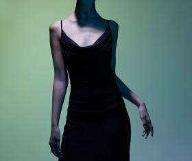Young girl wearing black skirt posing Stock Photo 04