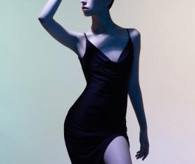 Young girl wearing black skirt posing Stock Photo 05