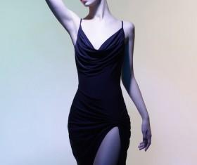 Young girl wearing black skirt posing Stock Photo 06