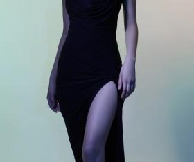 Young girl wearing black skirt posing Stock Photo 07