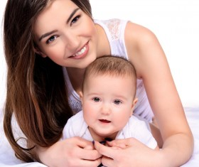 Young mother hugging her child Stock Photo 03